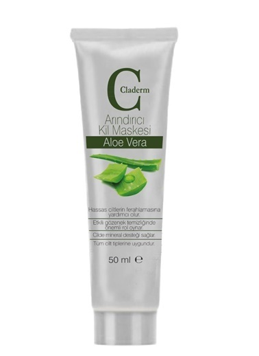 Claderm Claderm 50 ml Kil Maskesi – Aloe Vera Renksiz